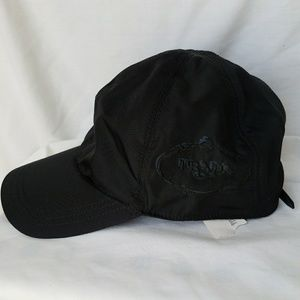 NWT PRADA Black Polyamide Baseball Hat-W's Large